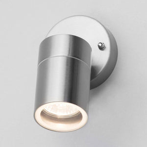 Stainless Steel Adjustable Outdoor Wall Spotlight - Choice Of Colours
