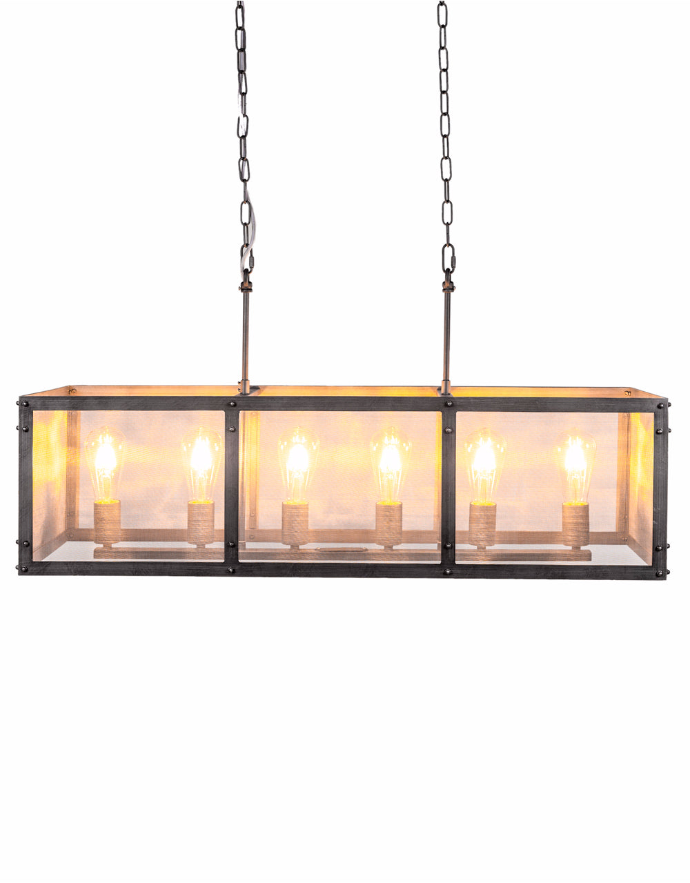Industrial Metal & Mesh Iron Pendant Ceiling Light