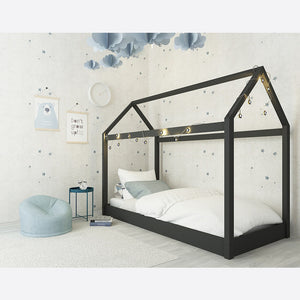 Children's Hickory House Bed Black