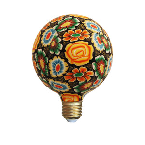 Yellow Flowers Decorative Mosiac LED Bulb