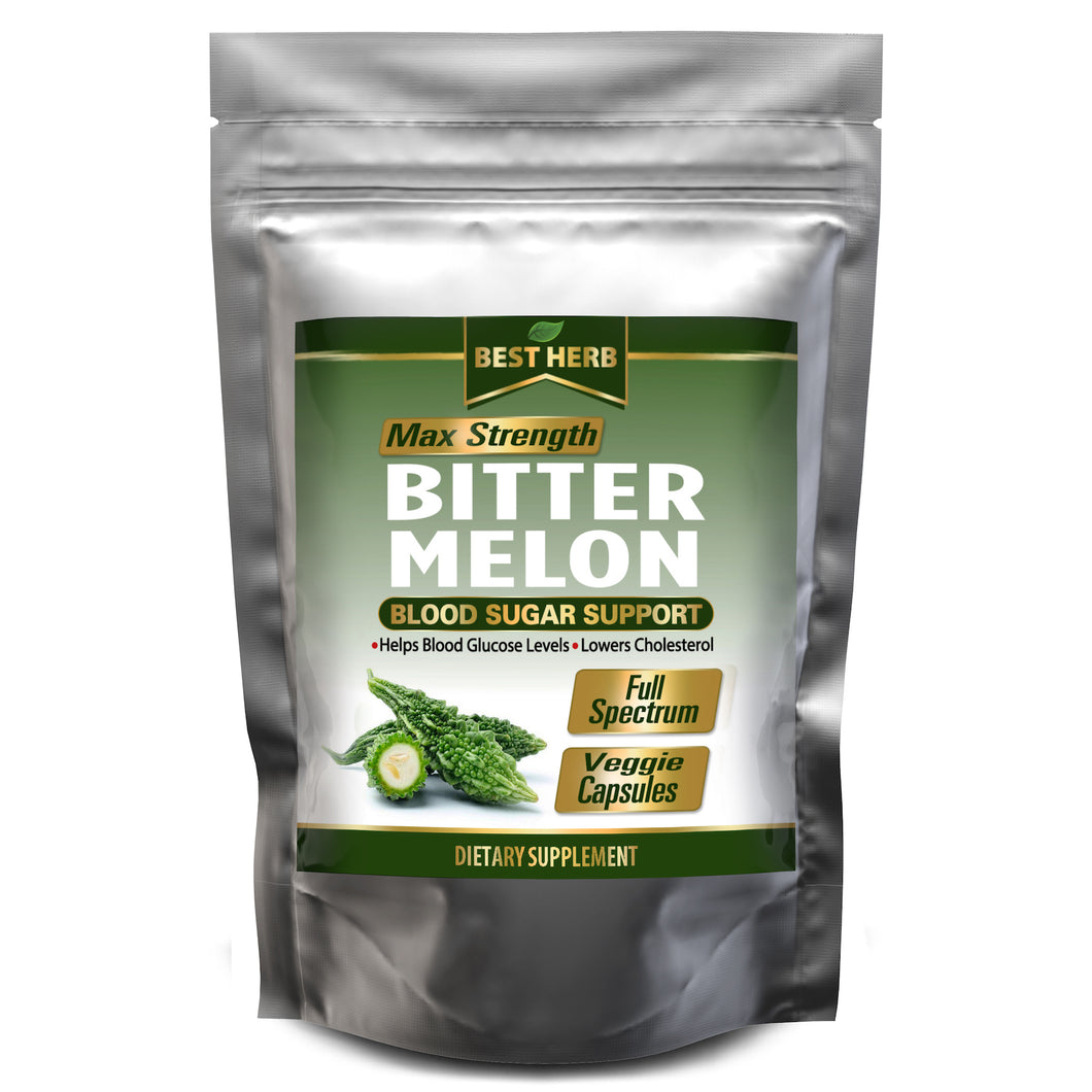 240 x Capsules Bitter Melon Regulates Blood Sugar & Glucose Levels Lowers Cholesterol Pills