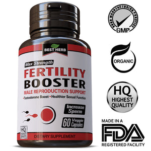 CONCEPTION AID INCREASE MALE FERTILITY SUPPORT INCREASE SPERM MOTILITY VOLUME HERBS PILLS