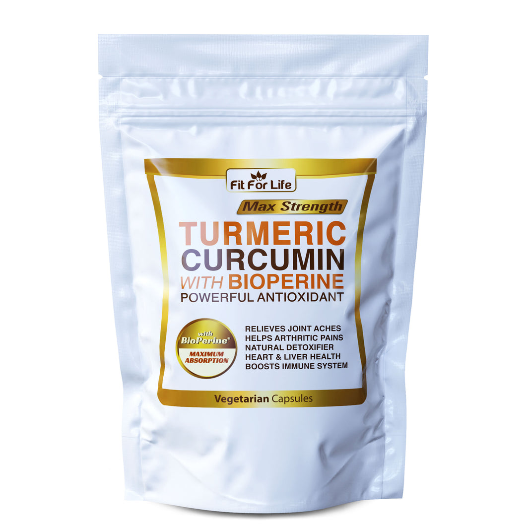 240 x Capsules Turmeric Curcumin 95% With Black Pepper (BioPerine) Strongest 10,000mg Extract