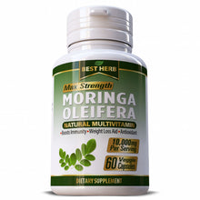 Load image into Gallery viewer, Best Herb Moringa Oleifera Extract Multi Vitamin Herbal Supplement Capsules Pills