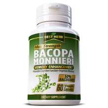 Load image into Gallery viewer, Best Herb Bacopa Monnieri Herbal Supplement Capsules