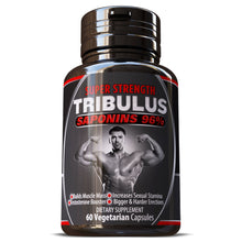 Load image into Gallery viewer, Tribulus Terrestris Saponins 96% Grade A Extract Pills Capsules Herbal Supplement Build Big Muscles Muscle Mass