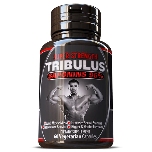 Tribulus Terrestris Saponins 96% Grade A Extract Pills Capsules Herbal Supplement Build Big Muscles Muscle Mass