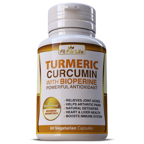 Turmeric Curcumin 95% Strong Extract With Black Pepper (BioPerine) Capsules