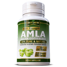Load image into Gallery viewer, Best Herb Amla Indian Gooseberry Herbal Supplement Capsules Pills