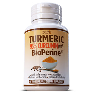 Turmeric 95% Curcumin With Black Pepper Extract (BioPerine) Anti Oxidant Pills