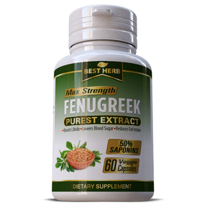 Fenugreek Seed Purest Extract Capsules Testosterone Libido Sexual  Health Pills