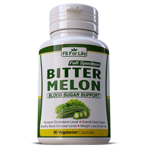 Bitter Melon Regulates Blood Sugar & Glucose Levels Helps Cholesterol Pills Capsules