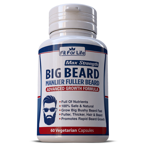 Big Beard Manlier Fuller Beard Growth Pills Capsules