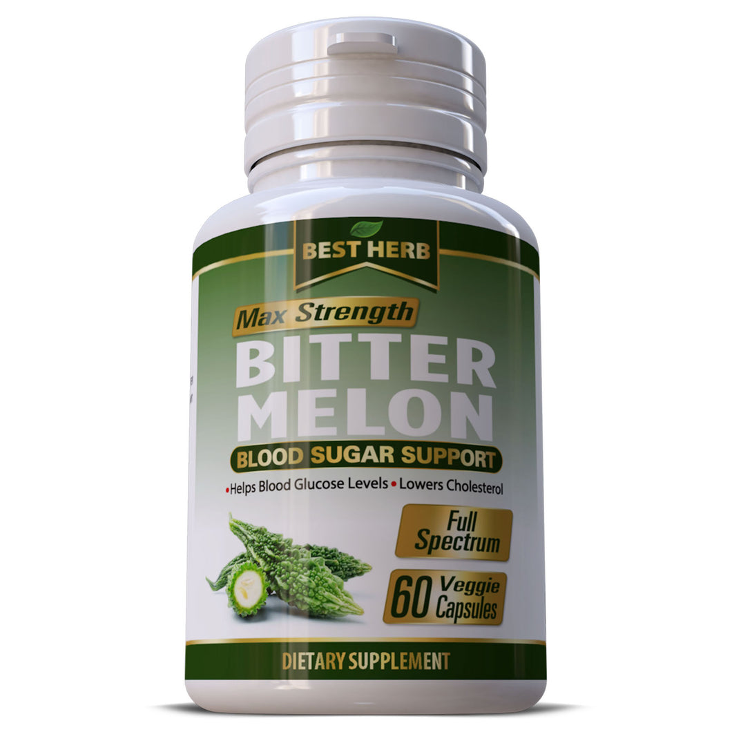 Bitter Melon Overall Heart Health Regulates Blood Sugar & Glucose Levels Lowers Cholesterol Pills Capsules
