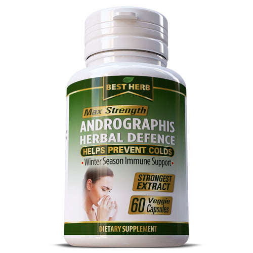 Andrographis Indian Echinacea Immune Support Treat Flu Cold Influenza Capsules