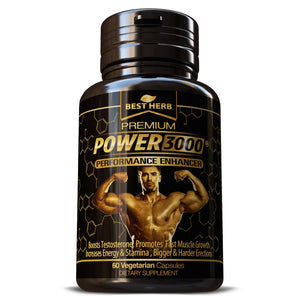 Powew 3000 Herbal Supplement Capsules Male Performance Enhancer Capsules Pills