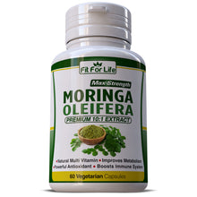 Load image into Gallery viewer, Moringa Oleifera Natural Multi-Vitamin 10:1 Leaf Extract Capsules Boosts Immune System