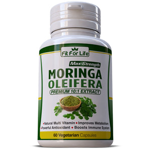 Moringa Oleifera Natural Multi-Vitamin 10:1 Leaf Extract Capsules Boosts Immune System