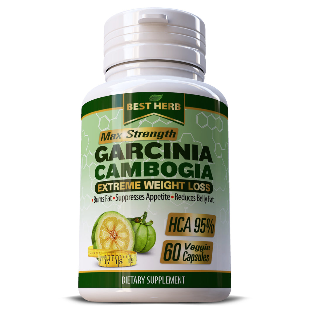 Best Herb Maximum Strength Garcinia Cambogia HCA 95% Extract Herbal Supplement Weight Loss Diet Capsules Pills