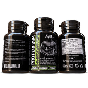 Pro Perform Anabolic Enhancer 100% Herbal Supplement Testosterone Booster Build Muscle Mass Fast Pills