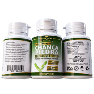 Chanca Piedra 100% Pure & Natural Supplement Kidney Gall Stones Breaker