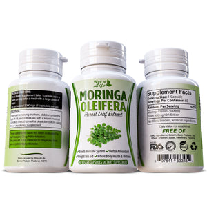 Moringa Oleifera 100% Pure & Natural Supplement Boost Immune System Anti Oxidant Multi Vitamin