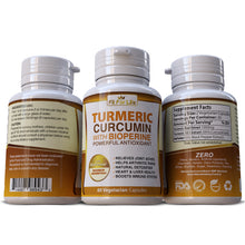 Load image into Gallery viewer, Turmeric Curcumin 95% Strong Extract With Black Pepper (BioPerine) Capsules