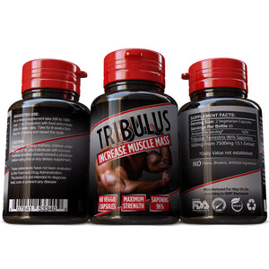 Tribulus Terrestris Saponins 96% Strongest Extract 15:1 Bodybuilding Weight Training Pills