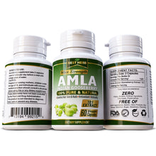 Load image into Gallery viewer, Best Herb Amla (Amalaki Indian Gooseberry) 100% Pure Extract Capsules Natural Supplement Hair Growth