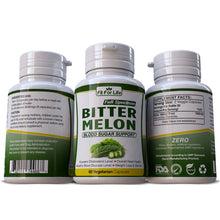 Load image into Gallery viewer, Bitter Melon Regulates Blood Sugar & Glucose Levels Helps Cholesterol Pills Capsules