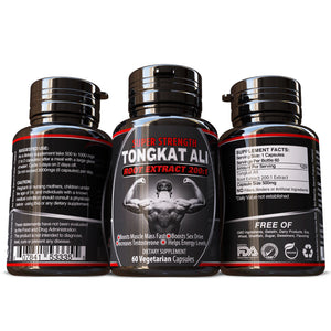 TONGKAT ALI GRADE A 200:1 PURE ROOT EXTRACT TESTOSTERONE BOOSTER PILLS Vegetarian 100% Pure & Natural No Fillers or Binders