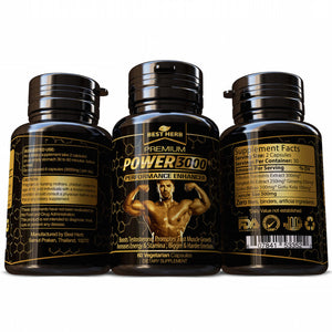 Power 3000 Male Performance Enhancer 100% Pure & Natural Body Building Supplement Boosts Testosterone