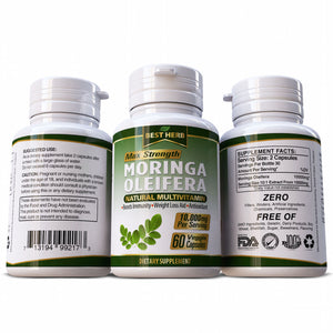 Moringa Oleifera 100% Pure & Natural Multi Vitamin Herbal Supplement