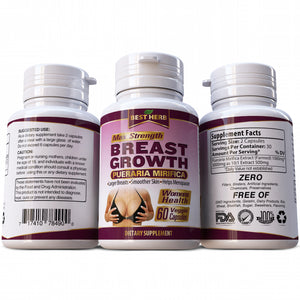 Best Herb Breast Growth Pueraria Mirifica 100% Pure & Natural Supplement Bust Firming