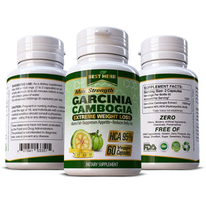 Garcinia Cambogia Extreme Weight Loss 100% Pure & Natural Slimming Diet Herbal Supplement
