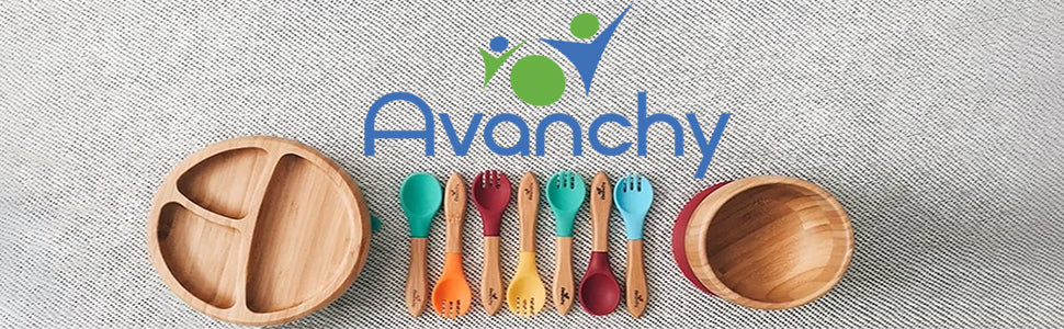 AVANCHY Bamboo Suction Baby Bowl and Spoon | ANB Baby