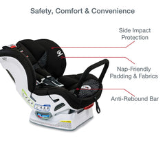 Britax Marathon ClickTight Convertible Car Seat with Anti-Rebound Bar - Protection, Padding and Fabrics Features   ANB Baby