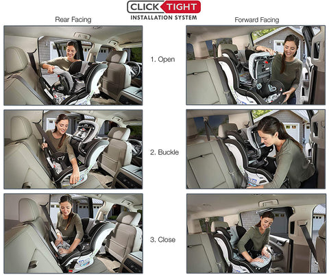 Britax Marathon ClickTight Convertible Car Seat Rear and Forward Facing Features | ANB Baby
