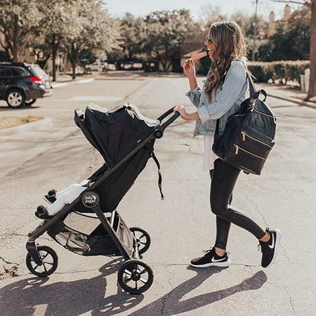 Person - BABY JOGGER City Mini GT2 Stroller and City GO Car Seat Complete Travel System