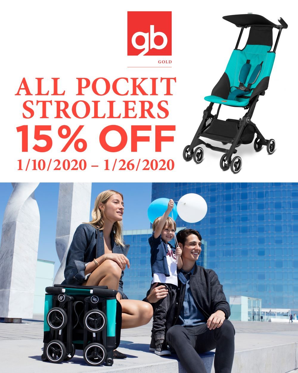 GB Pockit Strollers Holiday Sale - ANB Baby