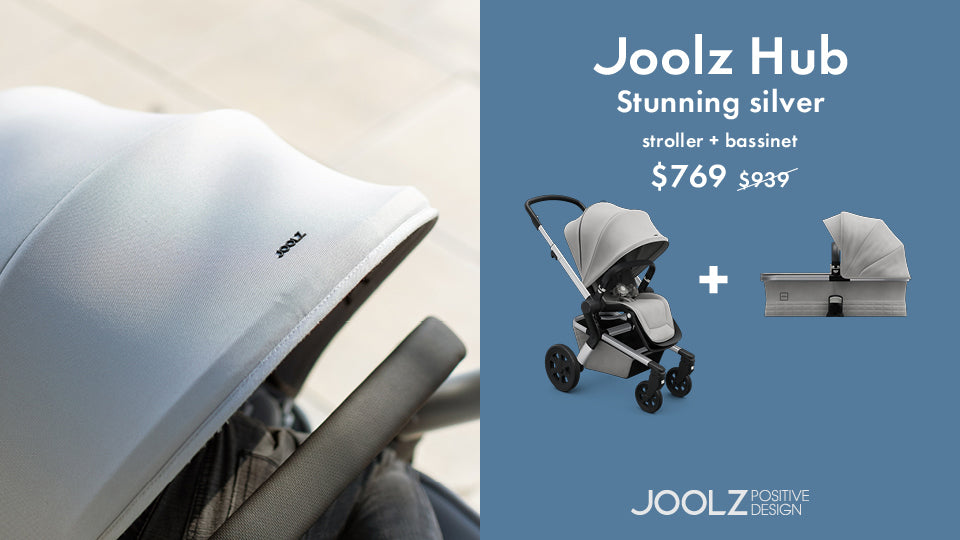 JOOLZ Hub Stroller and Bassinet Promo - Stunning Silver | ANB Baby