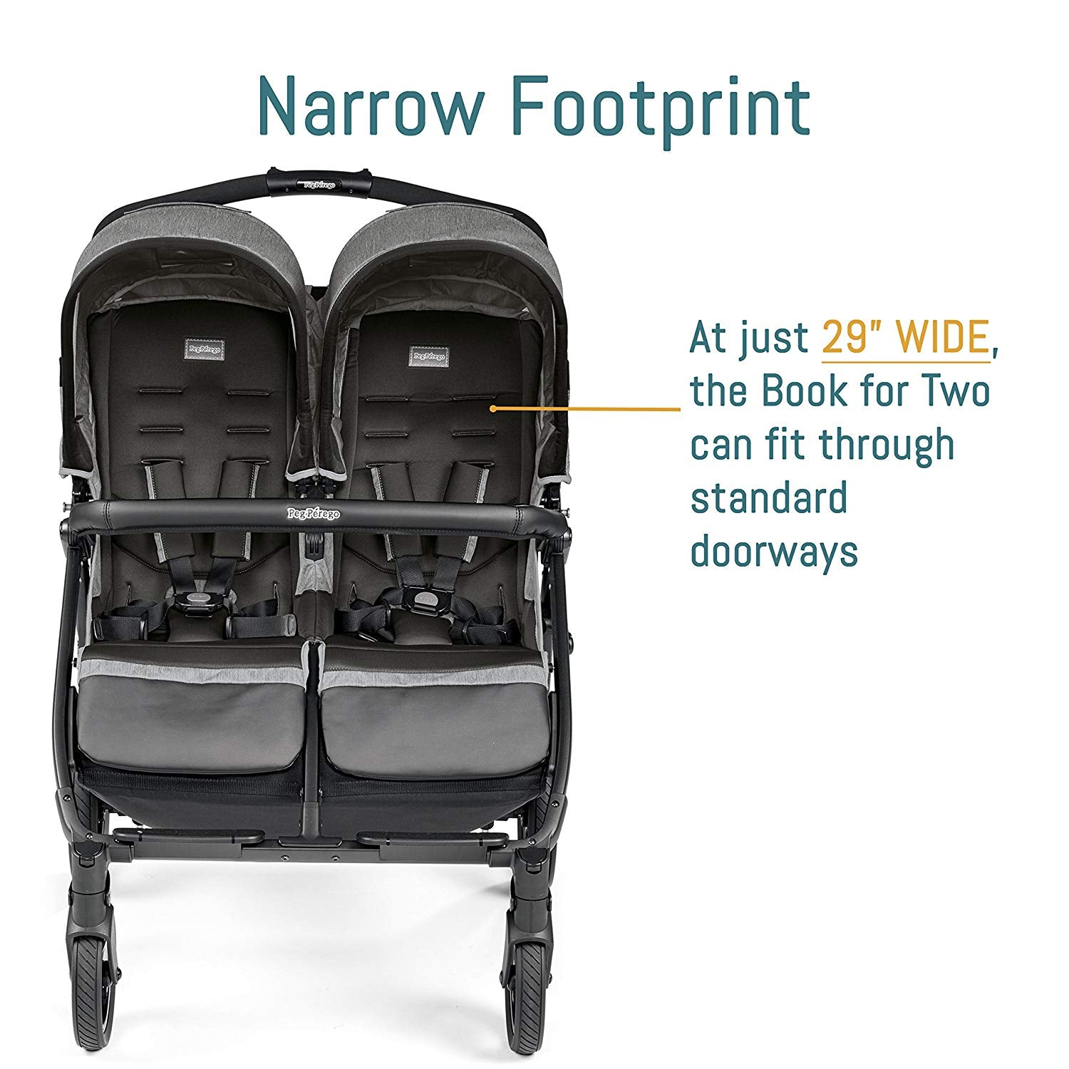 Peg Perego Book For two double Stroller | ANB Baby