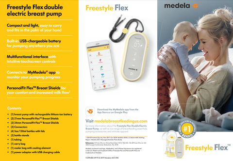 Medela Freestyle Flex Double Electric Breast Pump Free Shipping