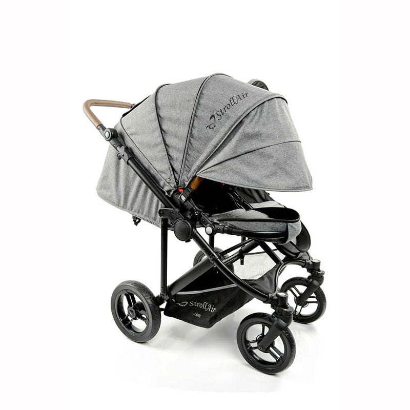 StrollAir Twin Stroller Full Recline And Maximum Canopy Coverage