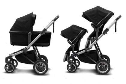 THULE Sleek Converts Double Stroller, Compatible with Bassinet | ANB Baby