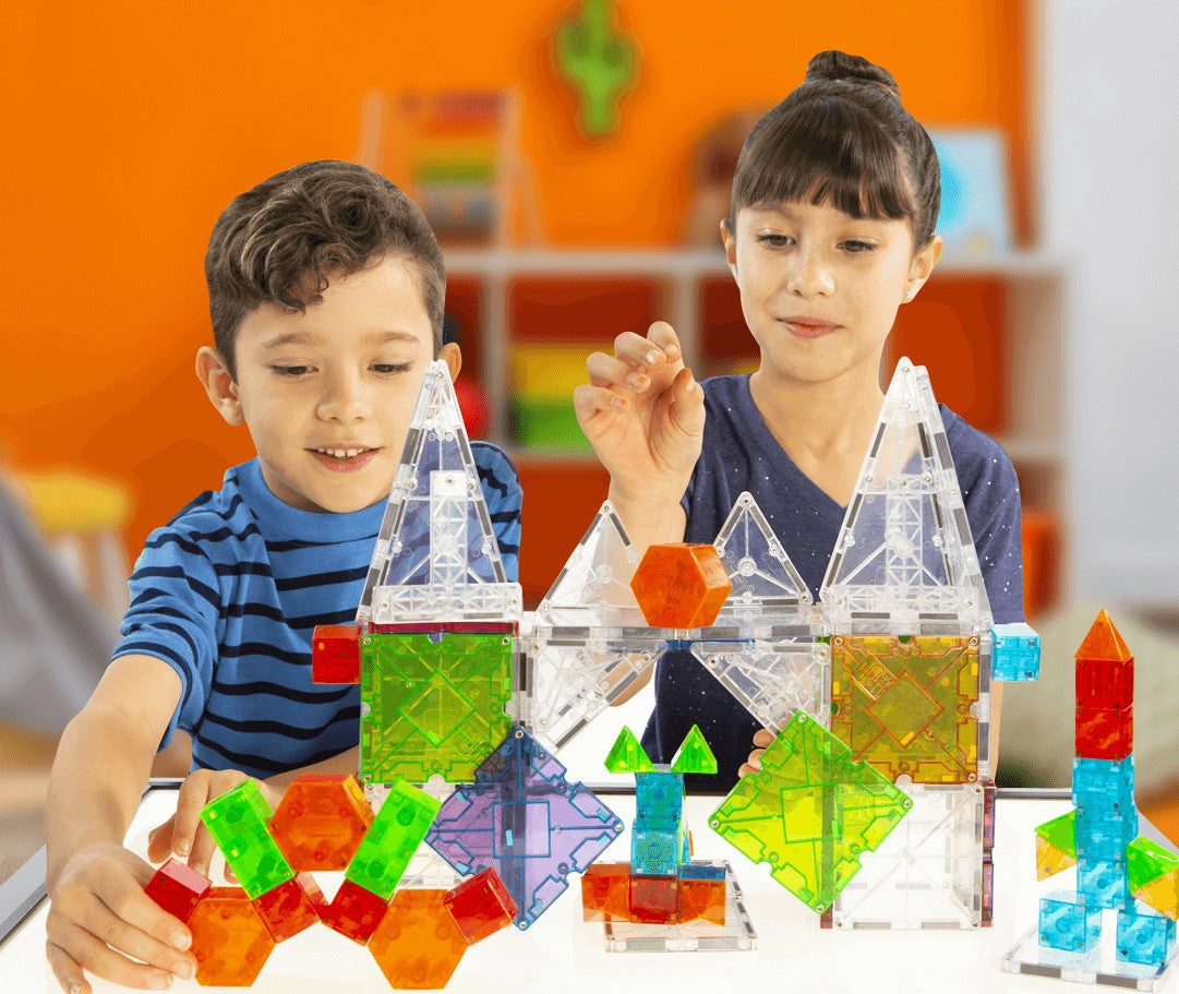 Valtech Magna-Tiles Set Kids Playing | ANB Baby