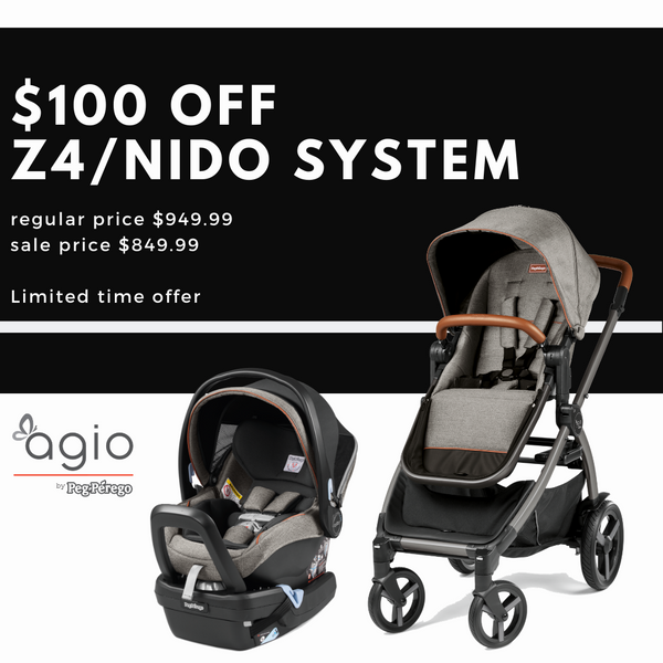 AGIO Z4 Stroller and Nido Car Seat Travel System Sale | ANB Baby