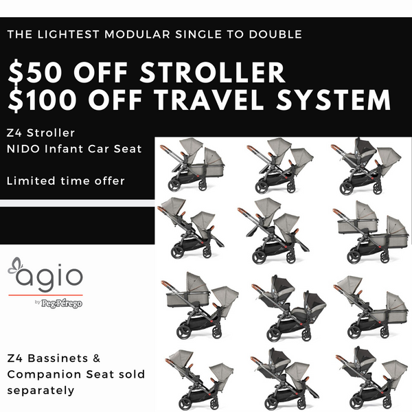 AGIO Z4 Stroller and Travel System Sale | ANB Baby