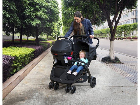 Britax B-Lively Double Stroller Infant Car Seat Adapter & Child Tray Kit