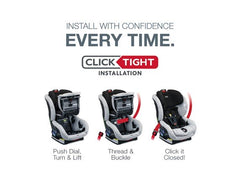 Boulevard ClickTight Convertible Car Seat with Anti-Rebound Bar - Clicktight Installation Features | ANB Baby